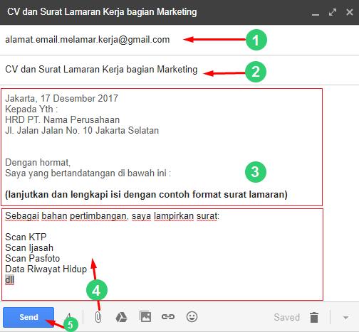 cara melamar pekerjaan menggunakan email